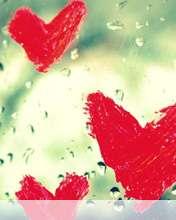 Hearts vallentine drops wallpaper for Videocon V1414