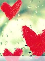 Hearts vallentine drops wallpaper for Samsung Galaxy Pocket Neo