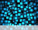 Cubes neon blue wallpaper for Alcatel OT 310