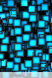 Cubes neon blue wallpaper for Maxwest ANDROID 320