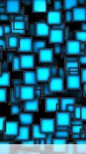 Cubes neon blue wallpaper for Goophone X1