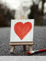 Cute painted heart wallpaper for Micromax X276