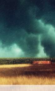 Storm over the field wallpaper for au INFOBAR C01