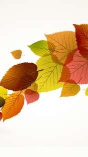 Colour leaves wallpaper for Celkon A125