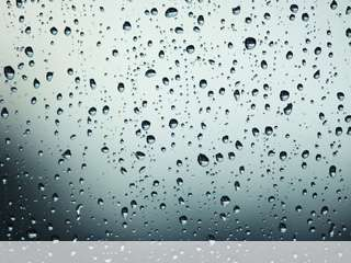 Drops on glass mobile wallpaper for