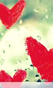 Hearts vallentine drops wallpaper for Videocon V1580