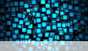 Cubes neon blue wallpaper for Alcatel One Touch Pop 7