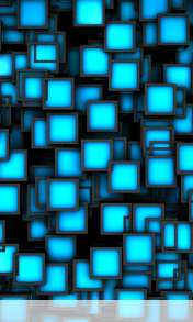 Cubes neon blue wallpaper for Alcatel OT 997