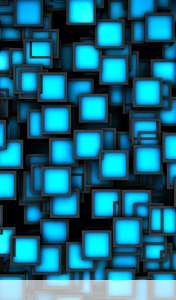 Cubes neon blue wallpaper for Acer ICONIA TAB A110