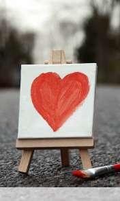 Cute painted heart wallpaper for Google Nexus 4