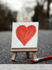 Cute painted heart wallpaper for LG Vu 3