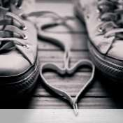 Heart made of shoelaces wallpaper for BlackBerry Classic